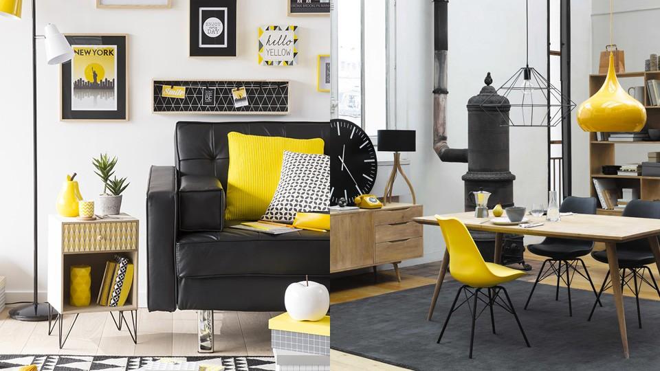 Association de couleurs particule d 39 art - Deco chambre jaune ...